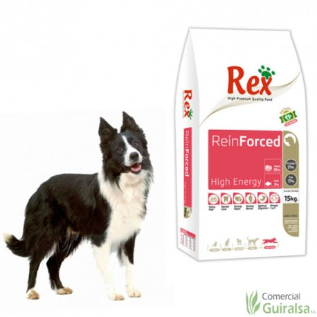 Reinforced High Energy Rex pienso para perros 15kg - Guiralsa