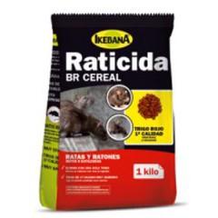 Raticida Ikebana BR Cereal envases de 300 gr y 1 kg