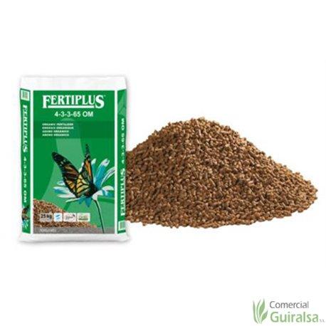 Abono Orgánico Fertiplus 4-3-3-65 OM sacos de abono 25 kg