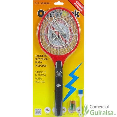 Raqueta Matamoscas Eléctrica Orework 2 pilas incluidas y cepillo limpieza