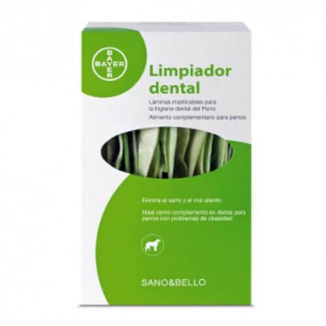 Limpiador Dental para Perros Sano&Bello (Bayer). Elimina sarro y el mal aliento.