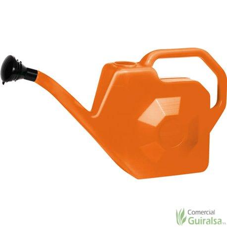 Regadera de Plástico Naranja Orework capacidad 5 litros y 12 litros