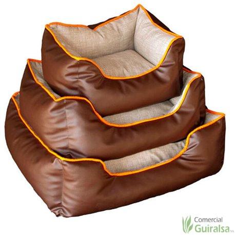 Cunas Rectangulares Poli-piel color marrón para perros y gatos