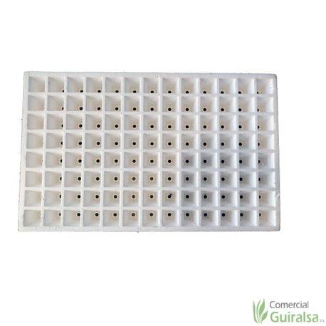Bandeja semillero de porexpan blanco 104 huecos