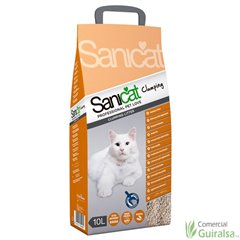 Arena absorbente Sanicat Clumping Litter para gatos. Saco 10 litros