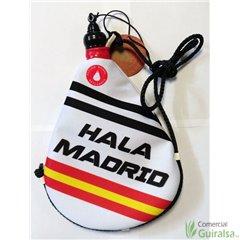 Bota de vino latex artesanal exterior tela estampado Hala Madrid Fútbol