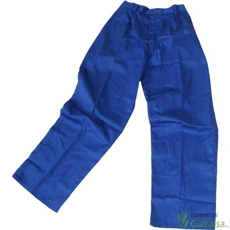 Pantalones de trabajo de tergal azul. Varias tallas