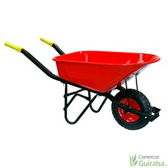 Carretilla de obra Chapa roja 185 litros 64x97cm