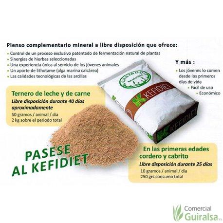 Arcilla Kéfidiet anti colibacilosis y coccidiosis de corderos, terneros, cabritos, lechones