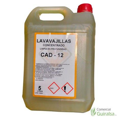 Detergente Líquido CAD-8 Plus para lavadora. Envase de 5 litros