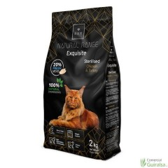 Pienso para gatos Sterilised Chicken and Turkey de Rex Natural Range 2 Kg