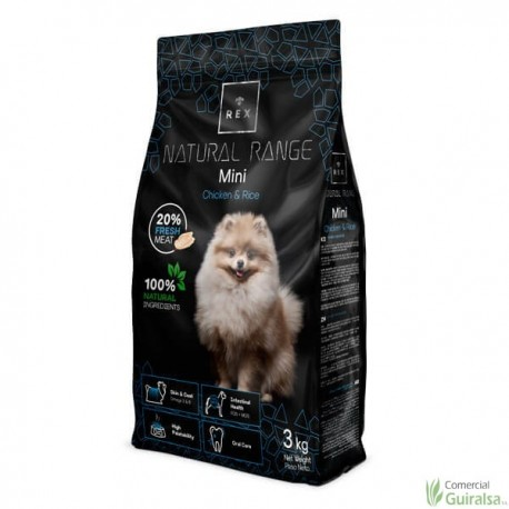 Piensos para perros Mini Chicken and Rice de Rex Natural Range 3 kg