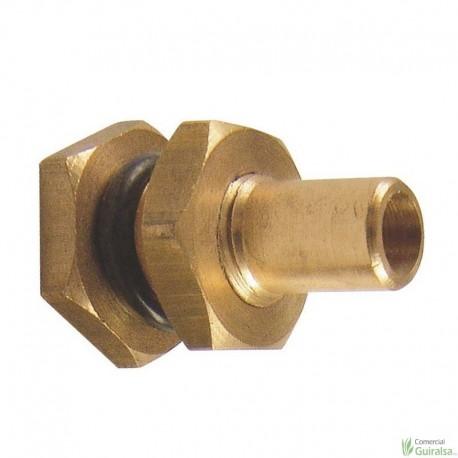 Racor Salida Deposito calibre 10/10 mm modelo metálico
