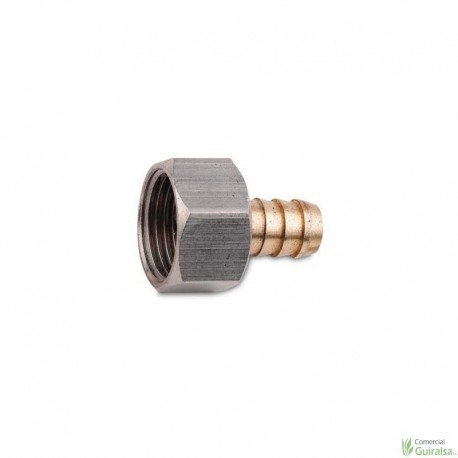 Conjunto Nipel y Tuerca 3/8 - Racor 3/8. Rosca hembra 3/8. Salida calibre 10/10 mm