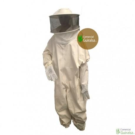 Buzo apicultor con careta desmontable