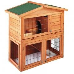 Caseta de Madera Modelo Praga para gallinas y conejos