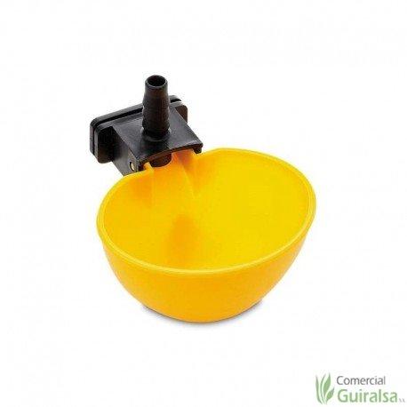 Bebedero Automático Basculante para Gallinas de plástico color amarillo