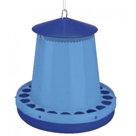 Comedero tolva Plástica Montaña 8 kg capacidad de color azul