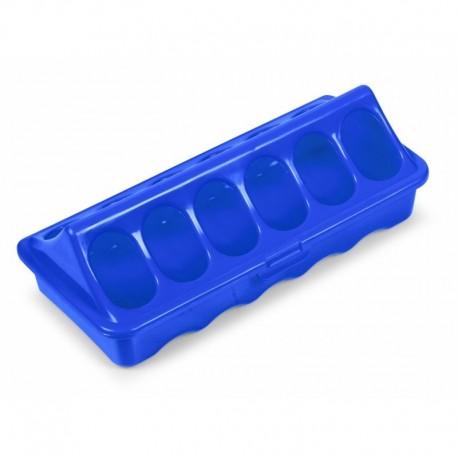 Comedero Plástico para Pollos primera edad 20 cm color azul
