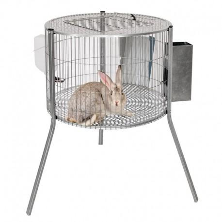 Jaula en forma de cilindro para los conejos machos