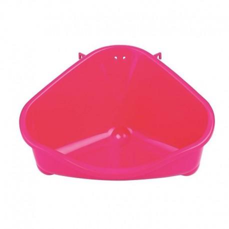 Cama de esquina de plástico rojo para Hurones