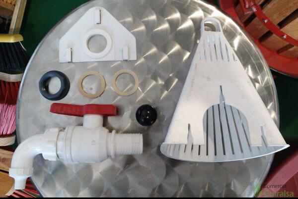 Componentes del grifo y el filtro para depósito mastelone